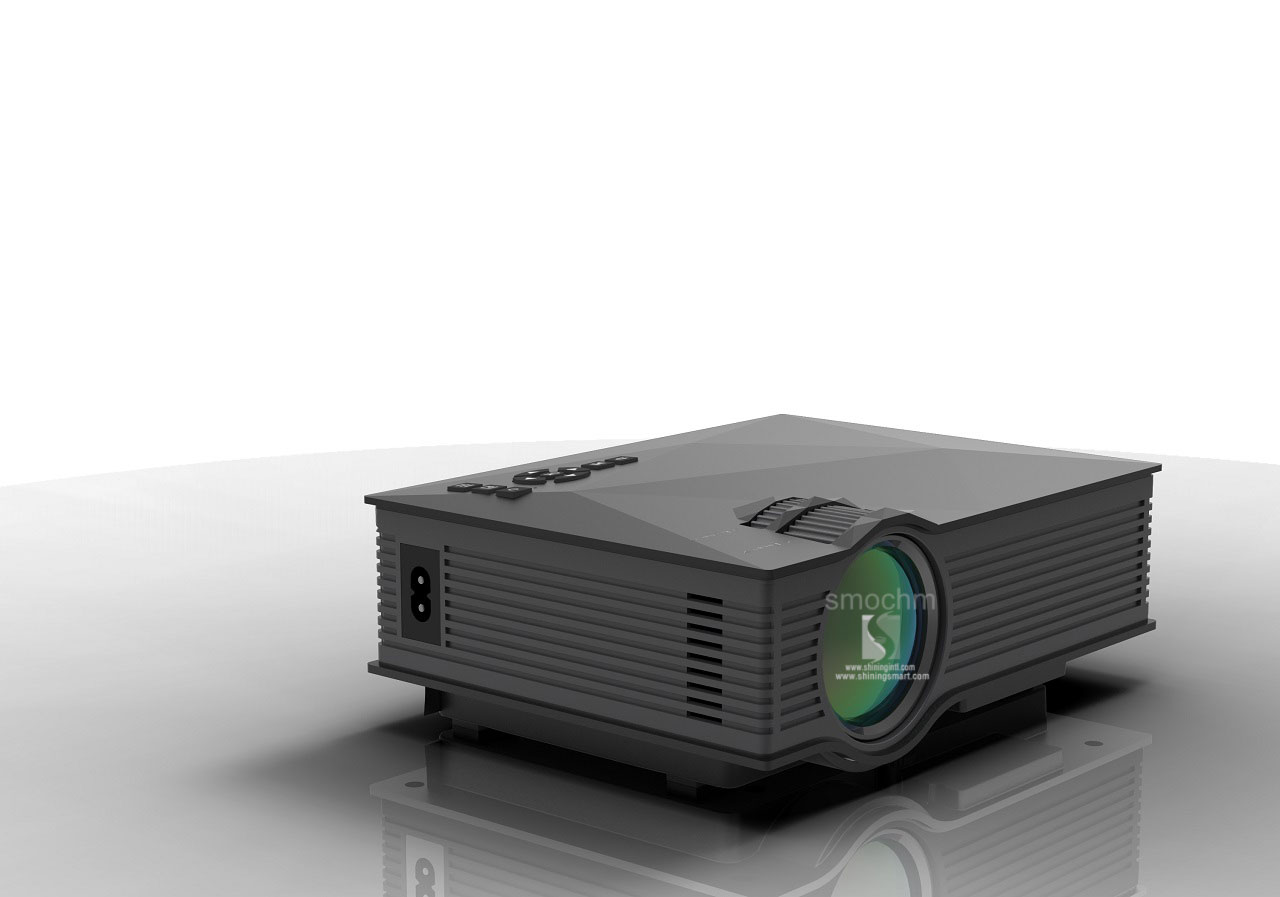 Smochm wifi wireless mirror miracast 1200lumen hd digital for Mirror micro projector