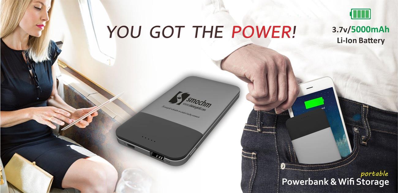 Smochm wifi-storage power band and WiFi AP 3 in 1 for iPhone & Smochm SW-01 Portable WiFi Storage Power Band WiFi AP 3 in 1 ...